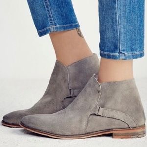 Free People Gray Suede Summit Ankle Boots